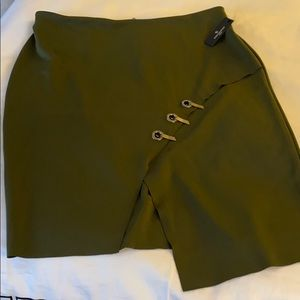 NWT! Olive green funky subs pencil skirt